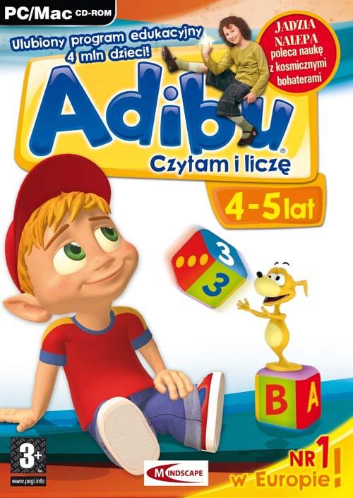 Wspaniały Gry PC :: Edukacyjne dla dzieci :: Adibu Czytam i liczę 4-5 lat PC ZO05