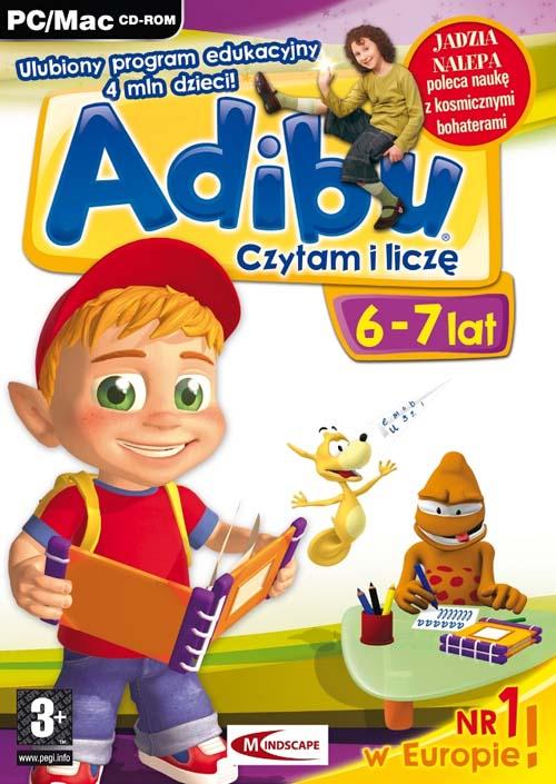 Najnowsze Gry PC :: Edukacyjne dla dzieci :: Adibu Czytam i liczę 6-7 lat PC VZ54